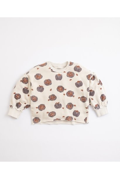 Play Up fleece sweater printed miró tomato flower