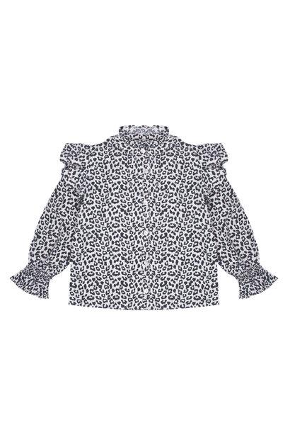 The New Society blouse gannin leopard
