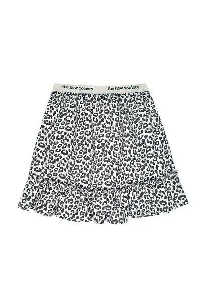 The New Society skirt gannin leopard