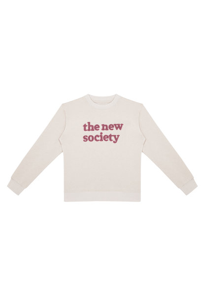 The New Society terry sweater signature natural melange