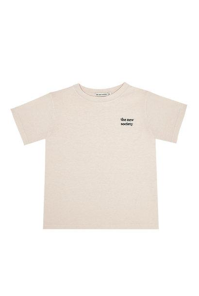 The New Society jersey t-shirt logo natural