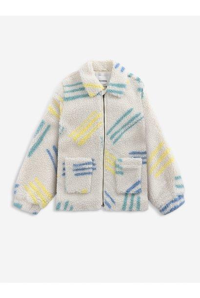 Bobo Choses jacket kids scratch all over jet stream
