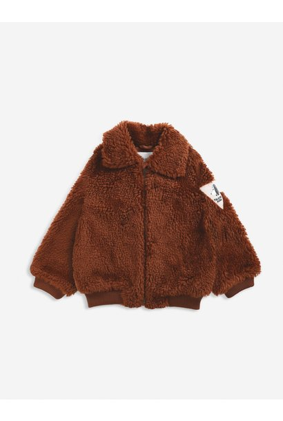 Bobo Choses jacket kids doggie patch tandoori spice