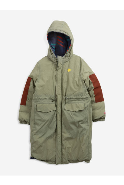 Bobo Choses parka jacket kids scratch all over dried herb