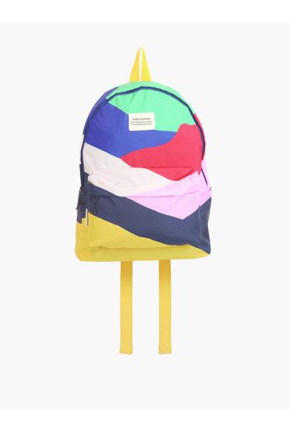 Bobo Choses backpack multi color block twilight blue