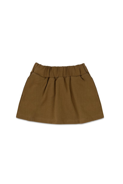 Phil & Phae classic skirt bronze olive