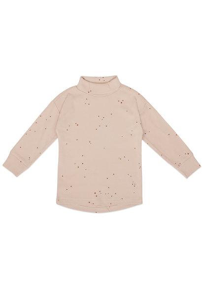 Phil & Phae rib longsleeve turtleneck dots warm cream