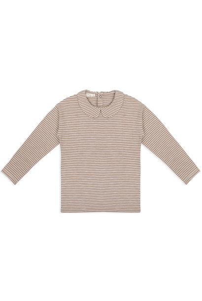 Phil & Phae kids collar longsleeve stripes chestnut