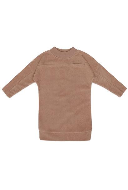 Phil & Phae teddy sweater dress creamy mocha