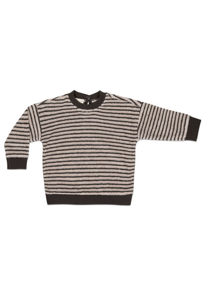 Phil & Phae baby sweater loopy stripes graphite