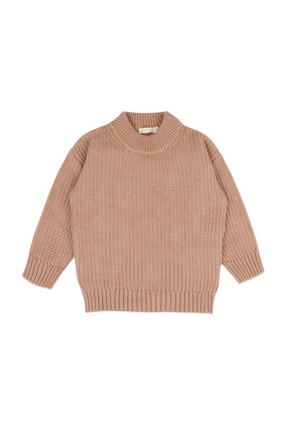 Phil & Phae knitted sweater chunky dusty nude