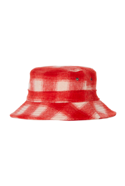 Finger in the nose bucket hat red