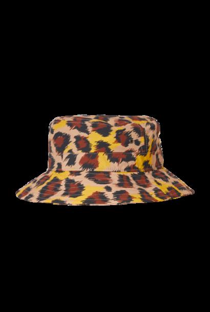 Finger in the nose bucket hat latte leopard