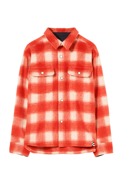 Finger in the nose blouse new dusk red checkers