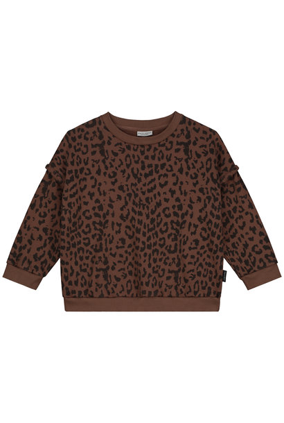 Daily Brat sweater leopard hickory brown