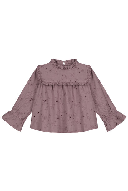 Daily Brat blouse florence dusty taupe