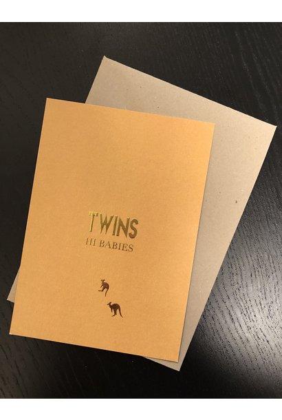 Mus & Bloem kaart twins hi babies