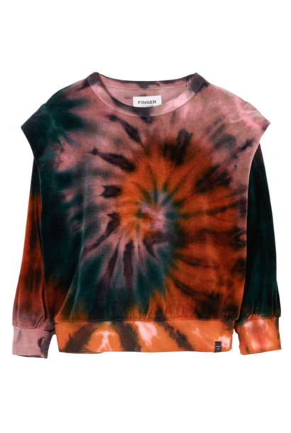 Finger in the nose sweater carly winter parma tie dye