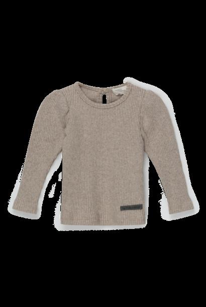 My Little Cozmo rib sweater puff sleeves jaden beige