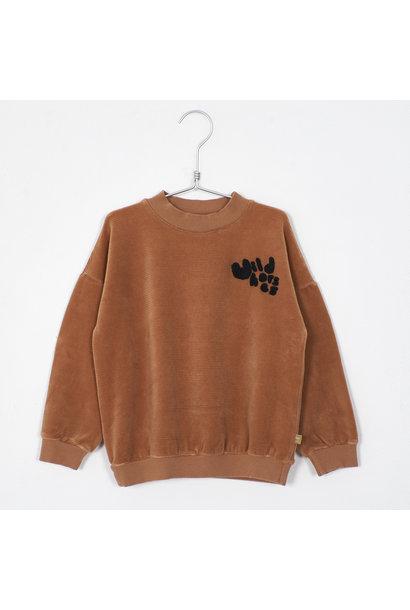 Lötie kids corduroy sweater solid peach