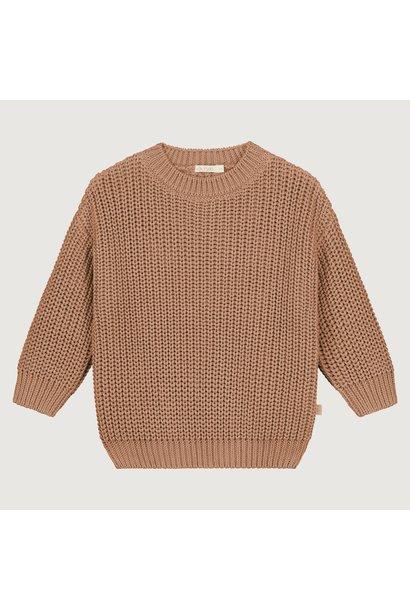 Yuki originals chunky knitted sweater coral