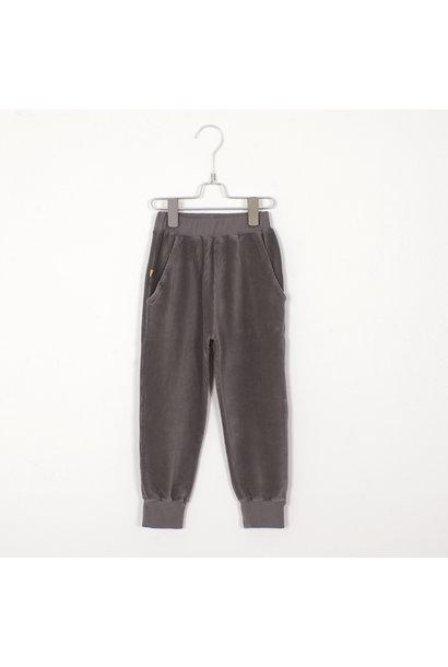 Lötie kids jersey pants corduroy solid grey