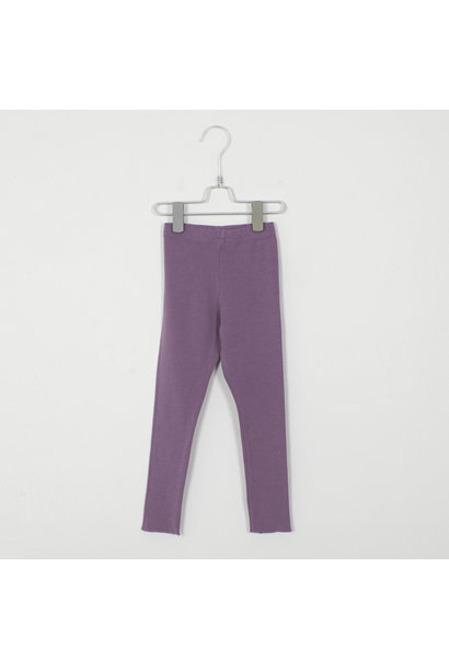 Lötie kids rib legging solid lilac