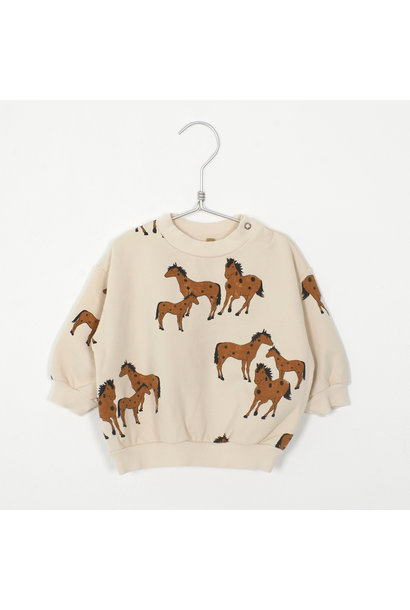 Lötie kids baby sweater horses cream