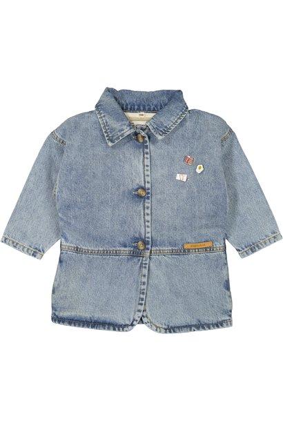 Piupiuchick jacket washed light blue denim