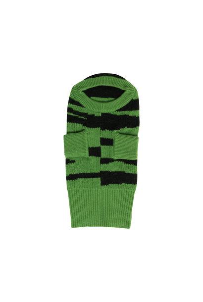 Maed for mini dog turtleneck green goose black tiger