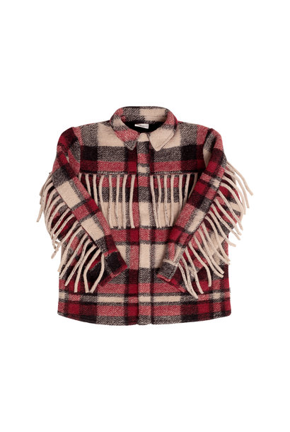 Maed for mini blouse tough tamarin red check
