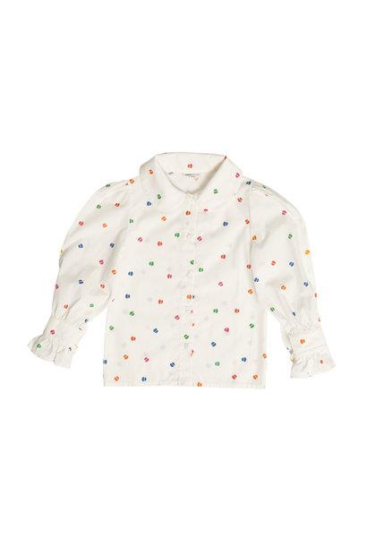 Maed for mini blouse bomb boa white confetti