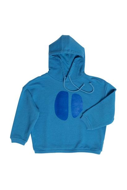 Maed for mini hoodie teal tapir bright blue