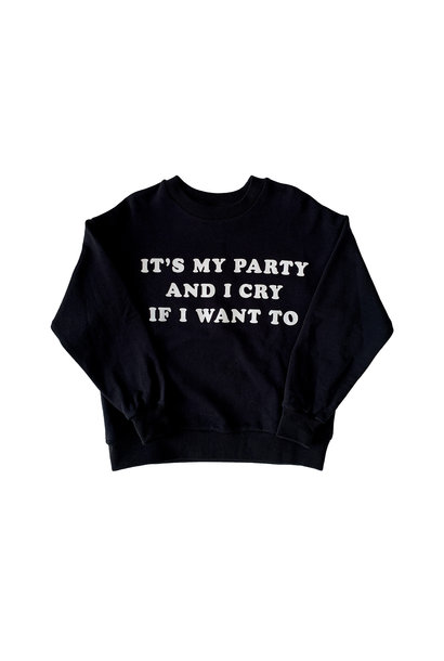 Maed for mini sweater it's my party black