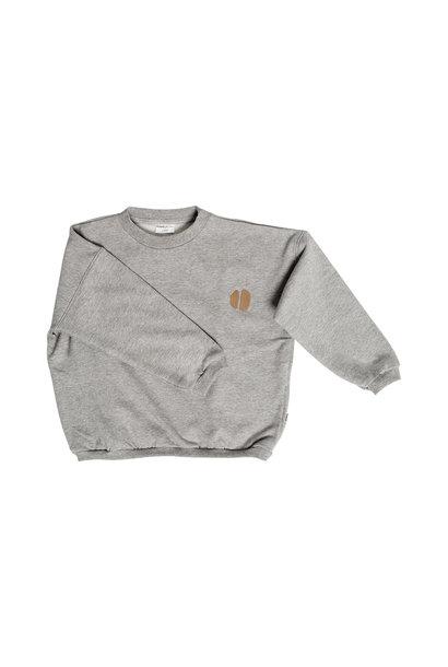 Maed for mini sweater ashy antelope light grey melange