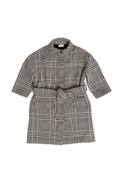 Maed for mini jacket classic caiman black white check