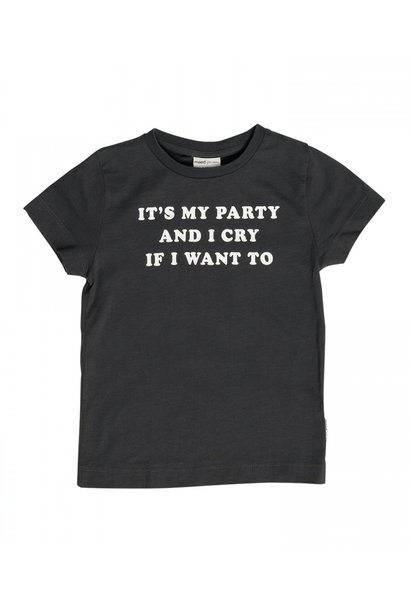 Maed for mini t-shirt it's my party black