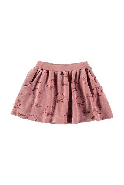 Bonmot mini skirt allover im ping rust