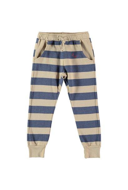 Bonmot fleece trouser stripes fog