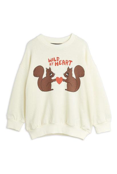 Mini Rodini sweater wild at heart white