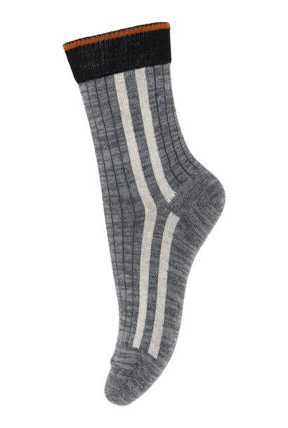 MP Denmark socks peter dark grey melange