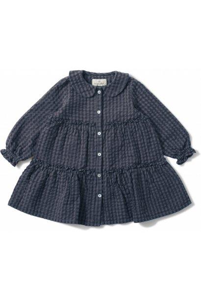Konges Slojd dress harlow blue fog check