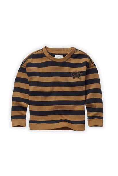 Sproet & Sprout sweater stripe mustard/ black