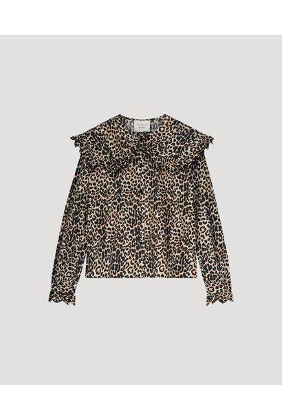 Les Coyotes de paris blouse fran leopard