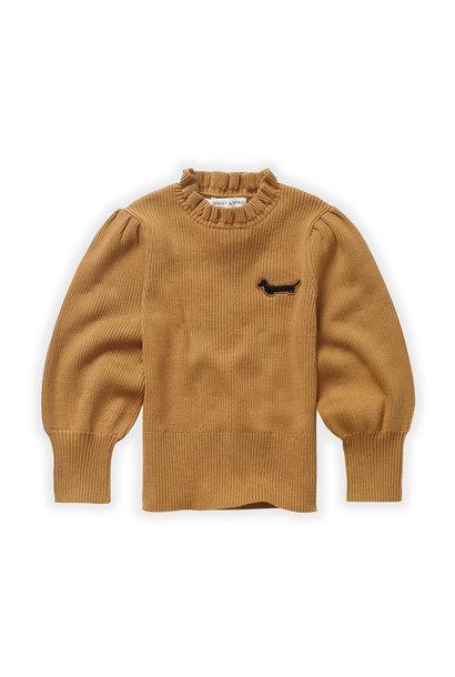 Sproet & Sprout turtleneck sweater ruffle mustard