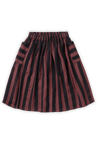 Sproet & Sprout midi skirt painted stripe fig