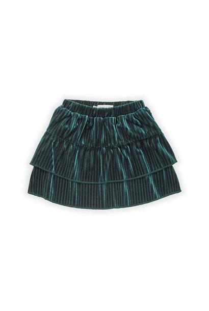 Sproet & Sprout skirt velvet pleats pine green