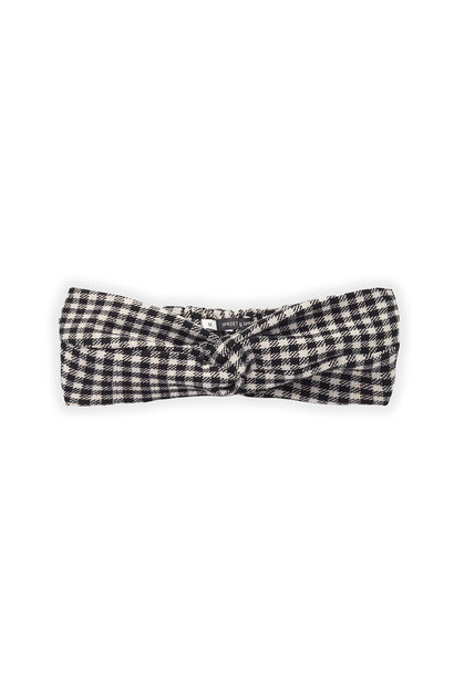 Sproet & Sprout haarband turban block check black