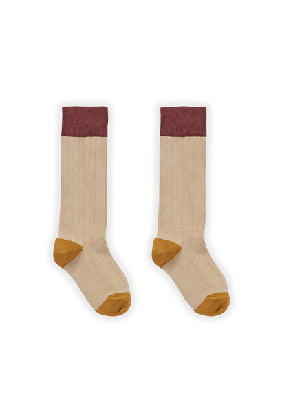 Sproet & Sprout socks colorblock nougat