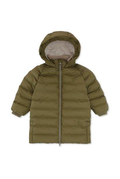 Konges Slojd jacket ace long rain down fir green